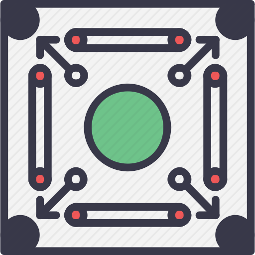 Board, Carrom, Game, Play, Queen, Sport, Strike Icon