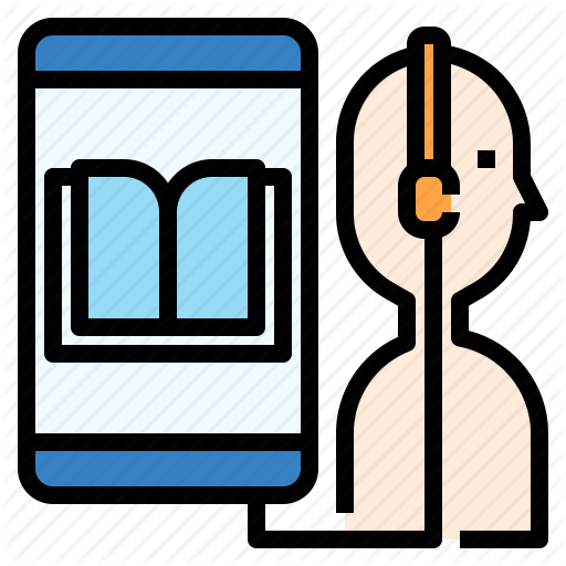 Audio, Book, Course, Education, Listening, Online, Study Icon