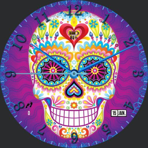 Gus Sugar Skull For Huawei Watch