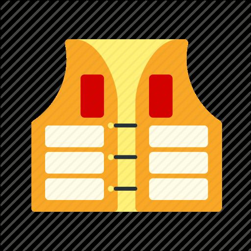 Equipment, Jacket, Life, Orange, Protection, Safety, Vest Icon