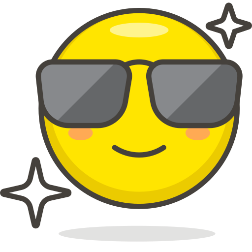 Smiling, Face, With, Sunglasses Icon Free Of Free Vector Emoji