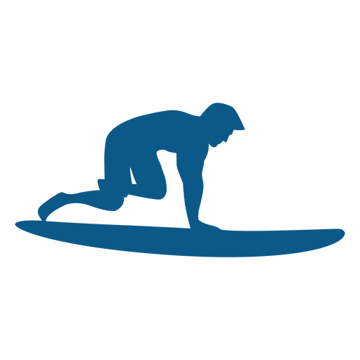 Surfing Pop Up Position Silhouette