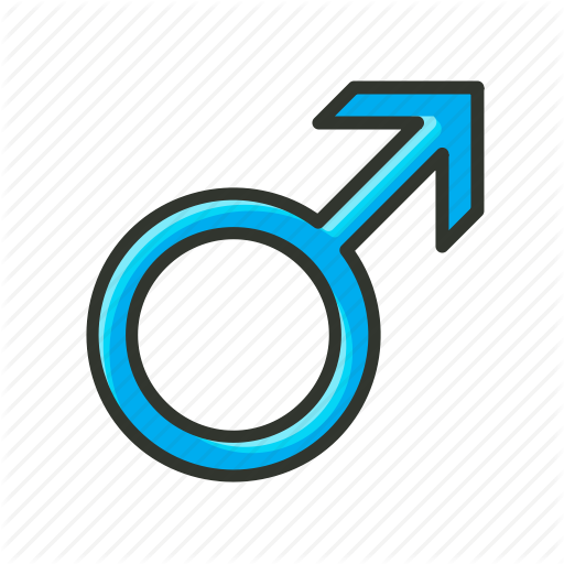 Boy, Gender Symbol, Male Symbol, Man, Sex Symbol Icon