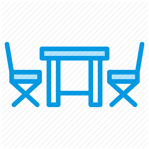 Chairs, Furniture, Outdoor, Table Icon