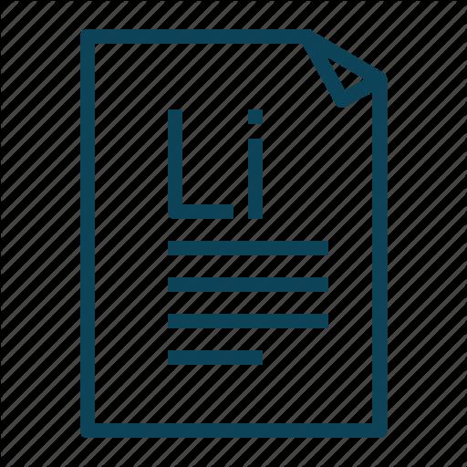 Generator, Ipsum, Lorem, Text Icon