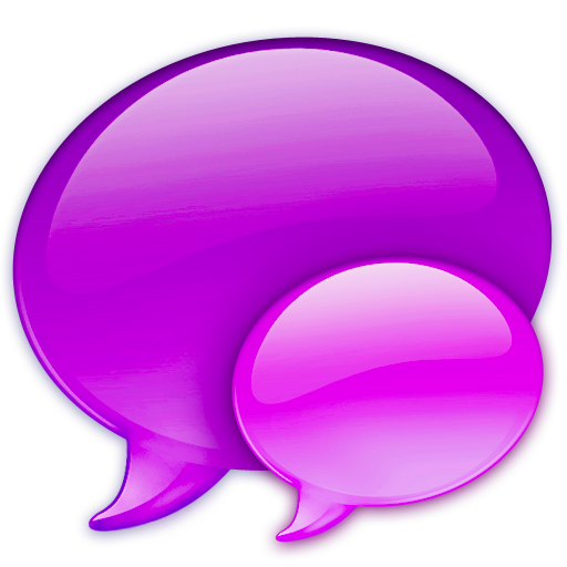 Balloon, Chat, Pink, Small, Talk Icon