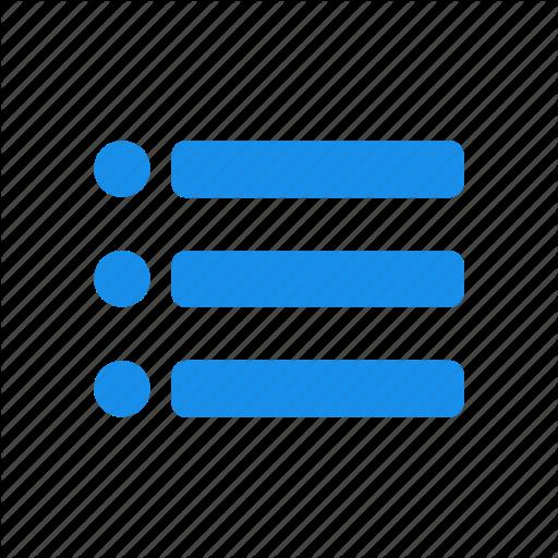Blue, Checklist, Feed, List, Playlist, Tasks Icon