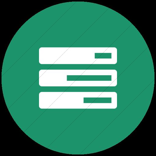 Flat Circle White On Aqua Bootstrap Font Awesome Tasks Icon