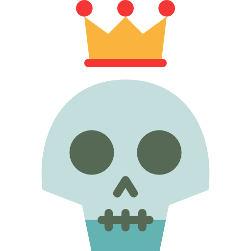 People, Crown, Skull, Vintage, Hipster, Tattoo, Old School Icon