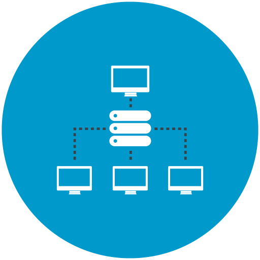 Shared, Hosting, Local Network Icon Free Of Web Hosting
