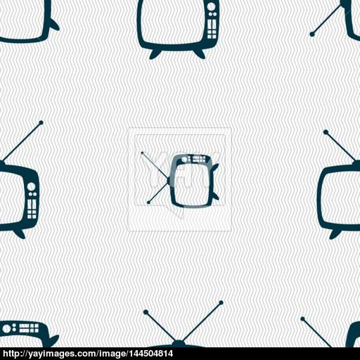 Retro Tv Mode Sign Icon Television Set Symbol Seamless Abstract