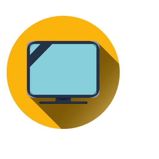 Television Round Icon