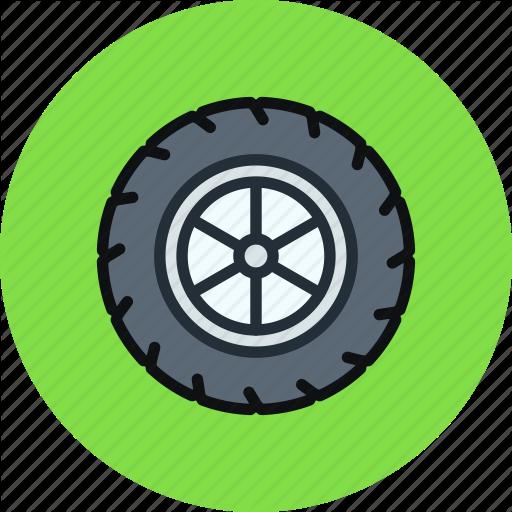 Car, Tire, Tyre, Wheel Icon