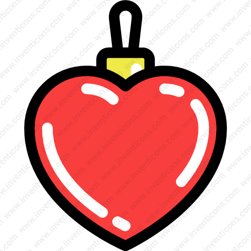 Download Christmas,heart,shaped,decorative,toy Icon Inventicons