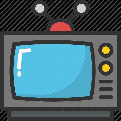 Old Tv, Retro Tv, Tv, Tv Set, Vintage Tv Icon