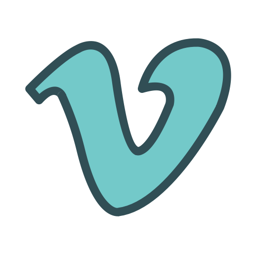Vimeo, Video, Social, Media, Letter, V Icon Free Of Brands Colored