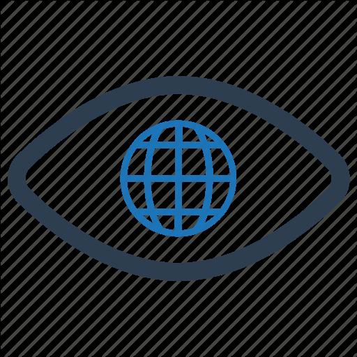 Eye, Global, Travel, View, Vision Icon