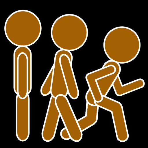 Cropped Black Icon Keep Walk And Run Keep Walk Run