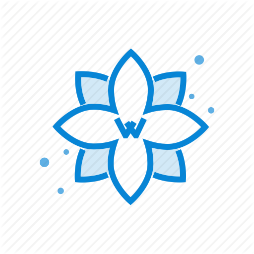 Abstract, Center, Flower, Wellness Icon