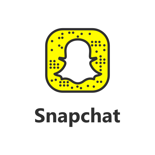 Snapchat, With, Text Icon Free Of Popular Social Media