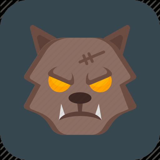 Halloween, Monster, Werewolf, Wolf Icon