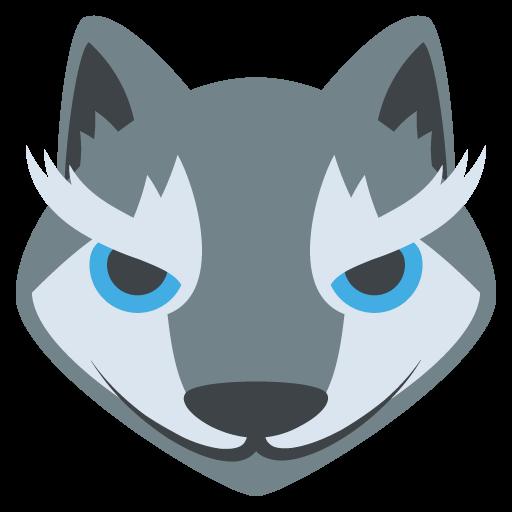 Wolf Face Emoji Vector Icon Free Download Vector Logos Art