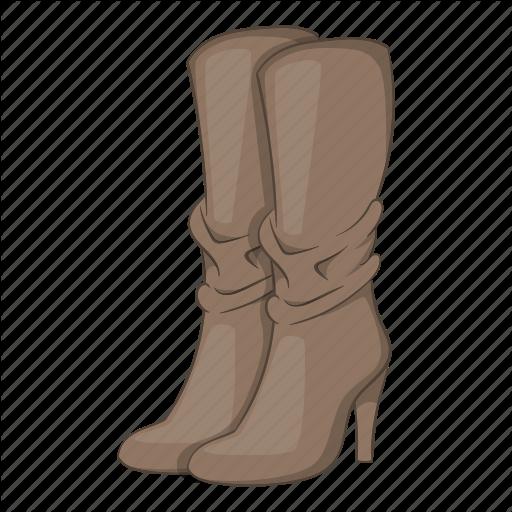 Boots, Cartoon, Fashion, Heel, High, Sign, Womens Icon