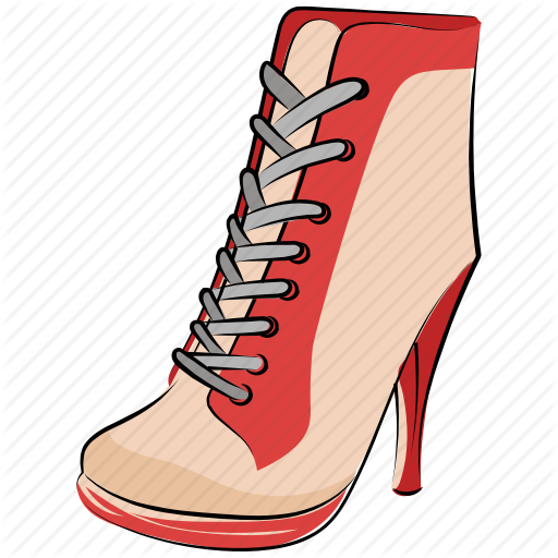 Heel Boots, Long Boot, Sneaker Wedges, Spiked Ankle, Women Boot Icon