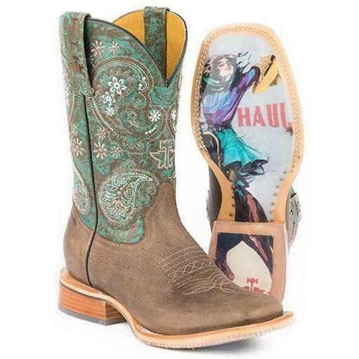 Women's Tin Haul Ban Dan Uh Boots With Vintage Rider Girl Sole