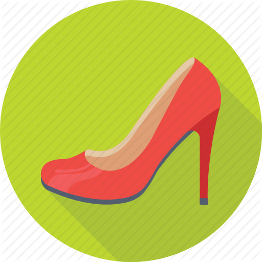 Footwear, Heel Shoes, Heels, High Heel, Women Shoes Icon
