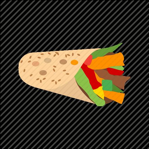 Chicken, Food, Healthy, Salad, Sandwich, Wrap, Wraps Icon