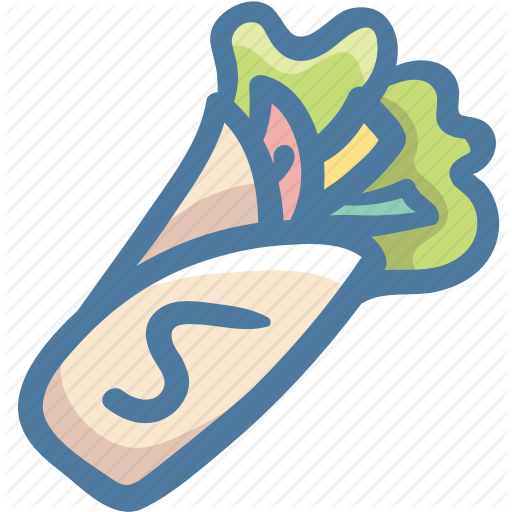 Envelop, Falafel, Fold, Food, Wrap Icon