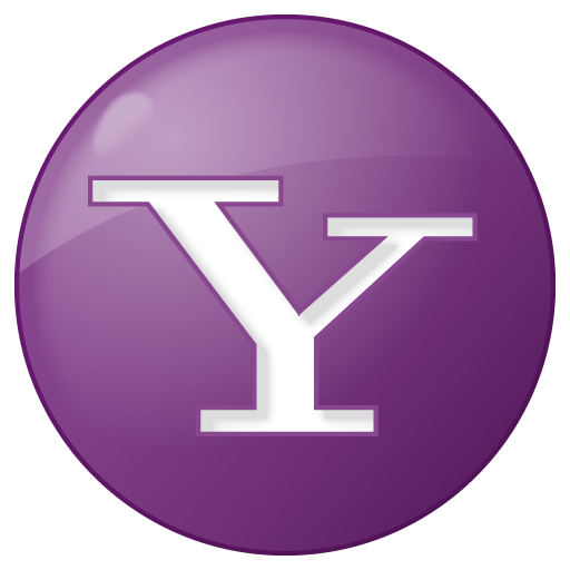 Social Yahoo Button Lilac Icon Social Bookmark Iconset Yootheme