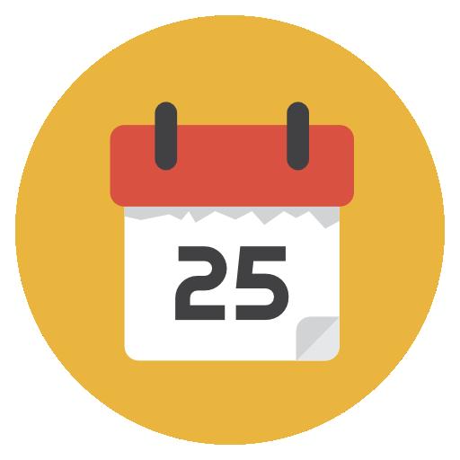 Calendar Icon Flat Christmas Circle Iconset Fps