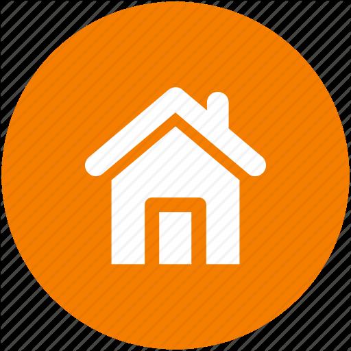 Address, Casa, Circle, Home, House, Local Icon Icon