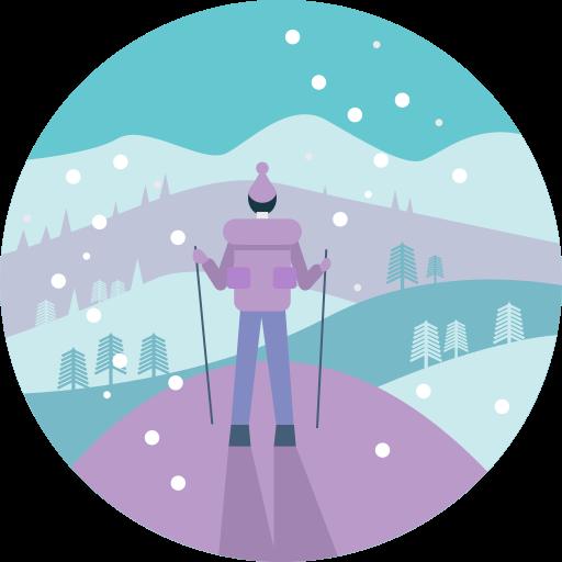 Atividade, Frio, Caminhadas, Homem, People, View, Inverno