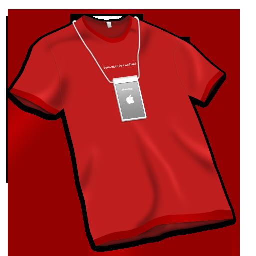 Apple Store Tshirt Red Icon Apple Store Louvre Iconset Nendomatt
