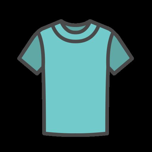 T, Shirt Gratuit De Clothing Icons Fill Color
