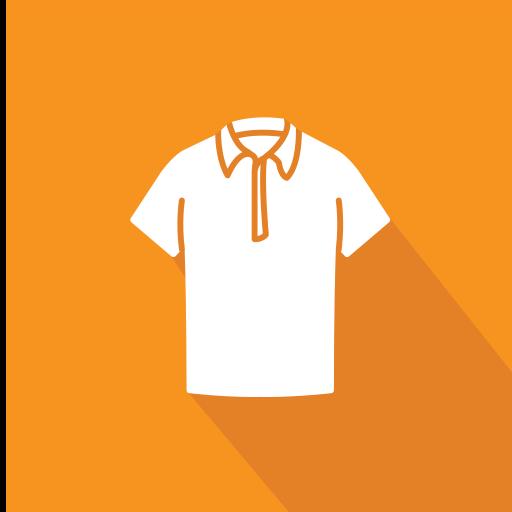 Colar, T Shirt Livre De Clothing Icons Flat Style