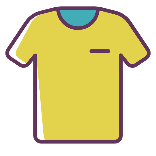 Tshirt, Roupa, Vestuario Livre De Line Color Mix Icons