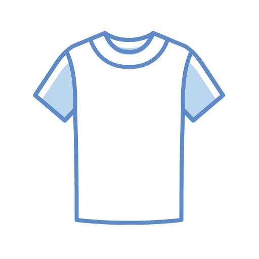 T, Shirt Gratuit De Clothing Icons Stroke Color