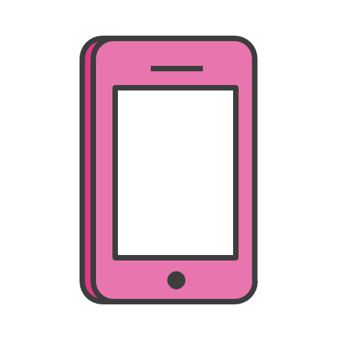 Icone Telefone Rosa Png Png Image