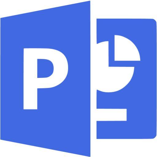 Royal Blue Microsoft Powerpoint Icon