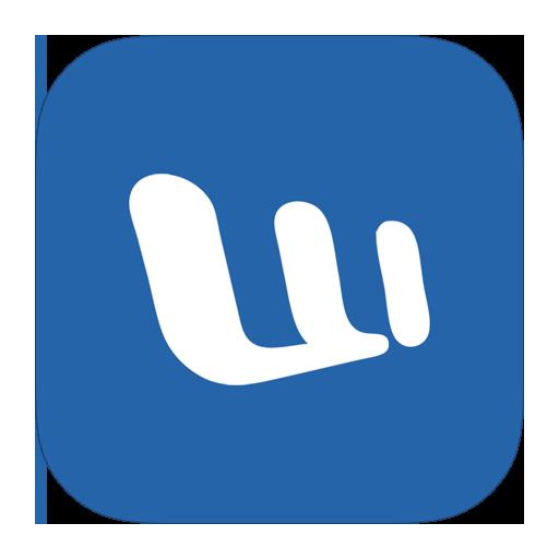 Word Flat Steelblue Icon