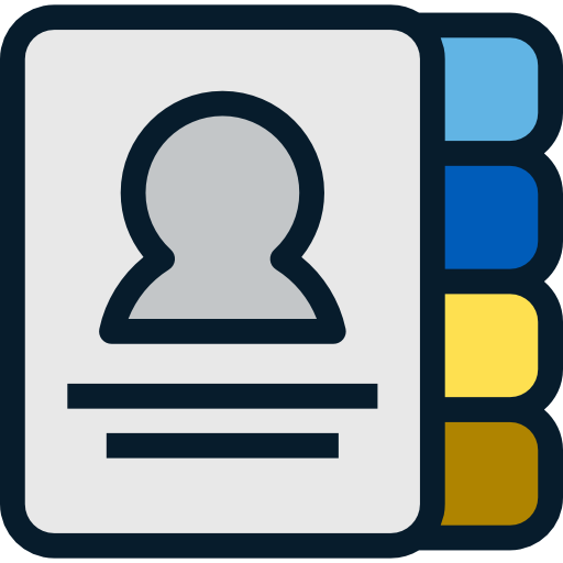 Phone Book, Notepad, Emails, Communications, Contacts, Agenda Icon