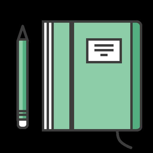 Icono Agenda, Notas, Libreta, Lapiz, Revista Gratis De Travel Kit