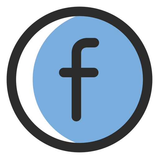 Facebook Colored Stroke Icon