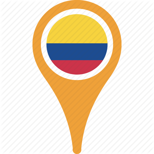 Colombia, Country, Flag, Map, Pn