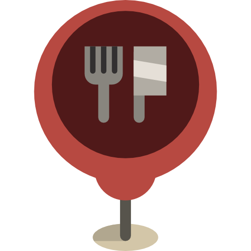 Maps And Flags Restaurant Icon