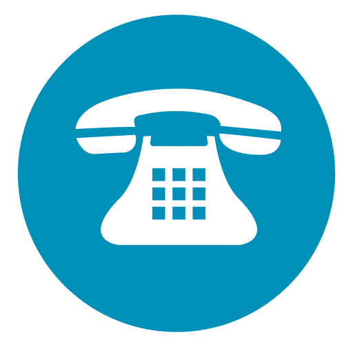 Icono De Telefono Redondo